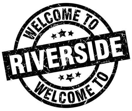 welcome to Riverside black stamp