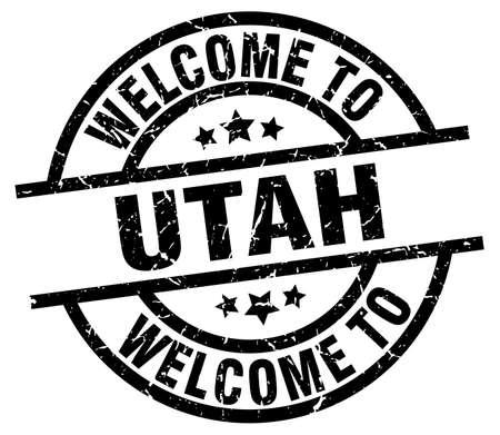 welcome to Utah black stamp