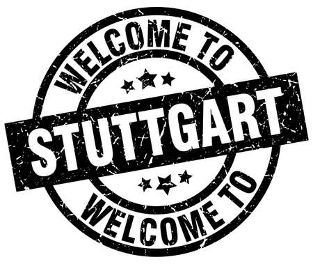stuttgart: welcome to Stuttgart black stamp Illustration