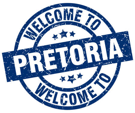 welcome to Pretoria blue stamp
