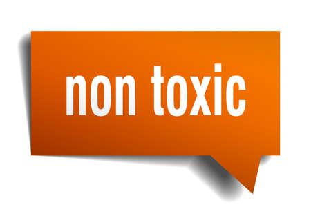 non toxic orange 3d square isolated speech bubble