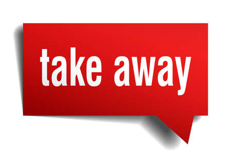 take away red 3d square isolated speech bubble 일러스트