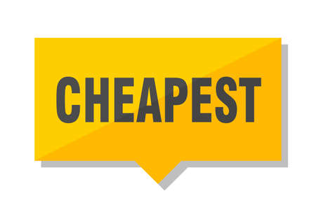 cheapest yellow square price tag Illustration