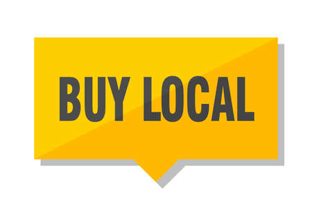 buy local yellow square price tag