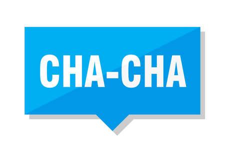 cha-cha blue square price tag Illustration