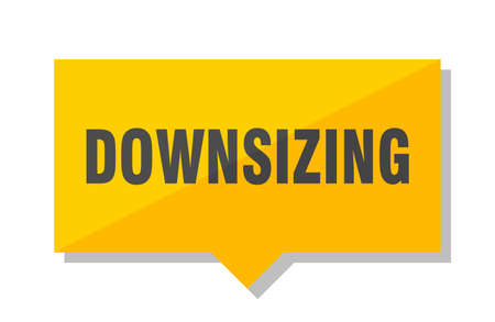 downsizing yellow square price tag
