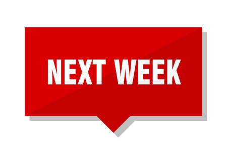 next week red square price tag Illustration