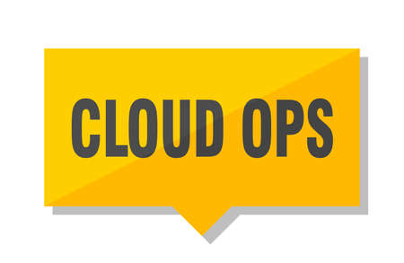 cloud ops yellow square price tag Illustration