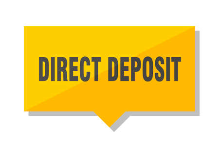 direct deposit yellow square price tag