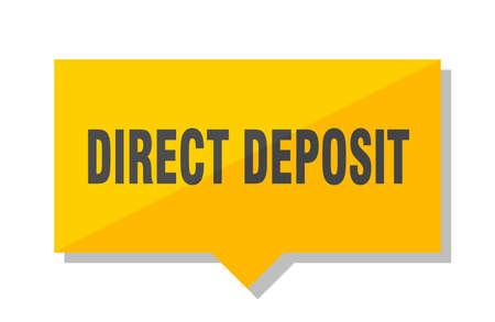 direct deposit yellow square price tag