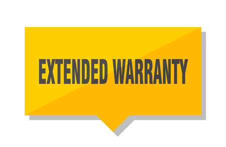 extended warranty yellow square price tag