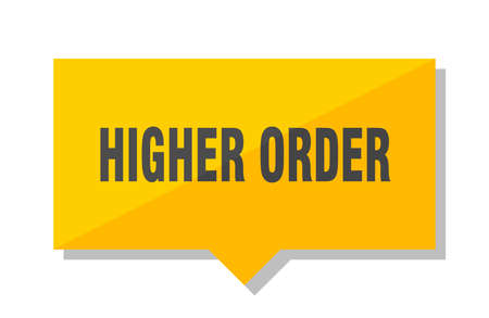 higher order yellow square price tag Illustration