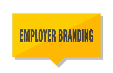 employer branding yellow square price tag Illustration