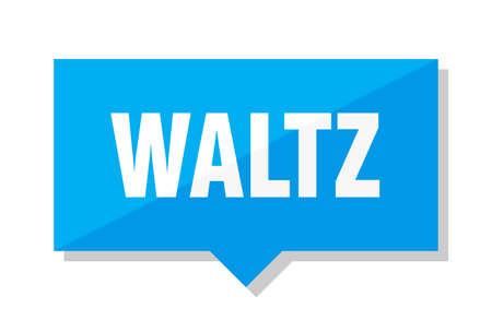 waltz blue square price tag Illustration