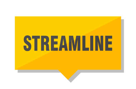 streamline yellow square price tag Illustration