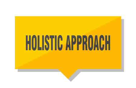 holistic approach yellow square price tag