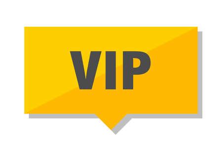 vip yellow square price tag