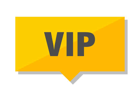 vip yellow square price tag