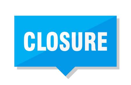 closure blue square price tag Ilustração