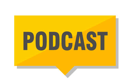 podcast yellow square price tag