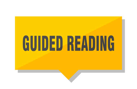 guided reading yellow square price tag