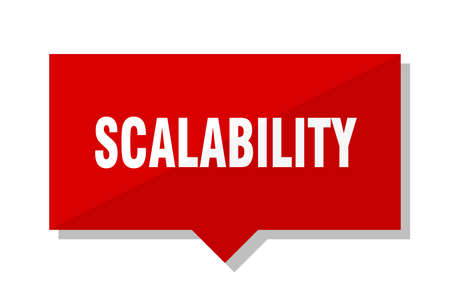 scalability red square price tag 向量圖像