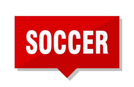 soccer red square price tag Illustration
