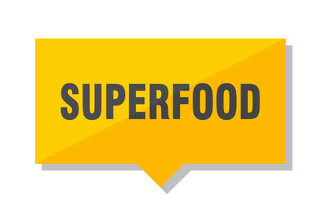 superfood yellow square price tag