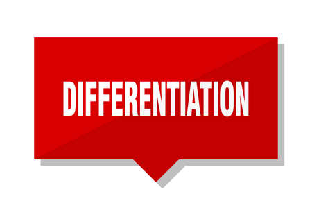 differentiation red square price tag