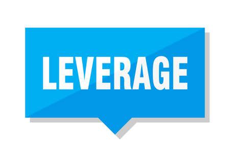 leverage blue square price tag Illustration
