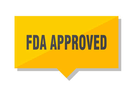 fda approved yellow square price tag