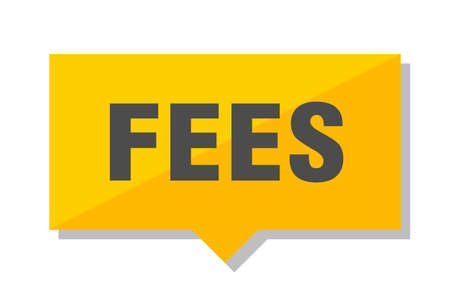 fees yellow square price tag