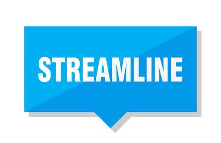 streamline blue square price tag Illustration