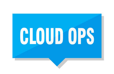 cloud ops blue square price tag