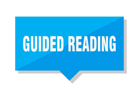 guided reading blue square price tag