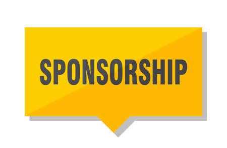 sponsorship yellow square price tag