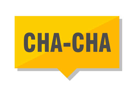 cha-cha yellow square price tag Illustration