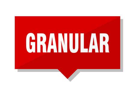 granular red square price tag