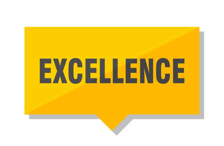 excellence yellow square price tag