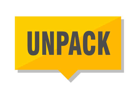unpack yellow square price tag