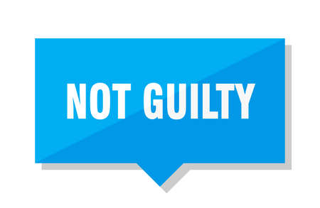 not guilty blue square price tag  イラスト・ベクター素材
