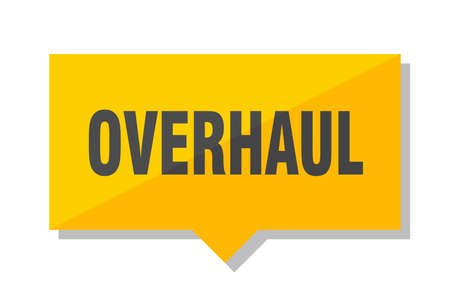 overhaul yellow square price tag Illustration