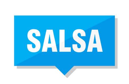 salsa blue square price tag Иллюстрация