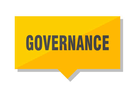 governance yellow square price tag