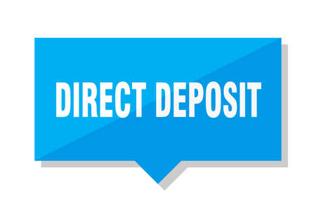 direct deposit blue square price tag