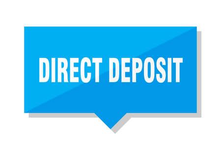 direct deposit blue square price tag