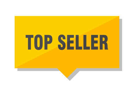 top seller yellow square price tag Illustration