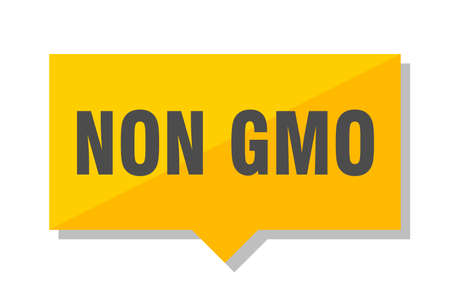 non gmo yellow square price tag Illustration