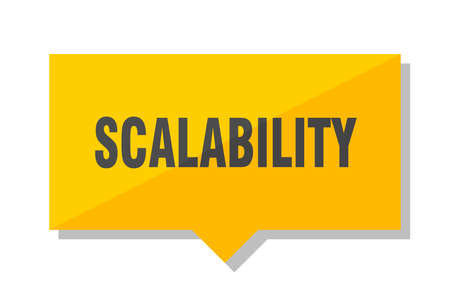 scalability yellow square price tag