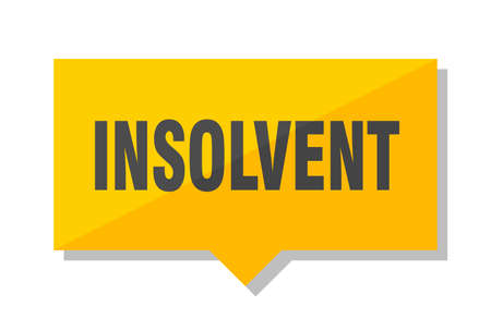 insolvent yellow square price tag
